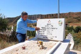 Gurbetçiler şehit mezarlarını yeniledi