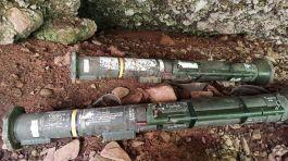 Hakkari Dağlıca da 2 adet tanksavar füze bulundu