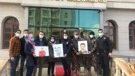 Halfetili öğrenciler Şehit polislerin portrelerini yaptı