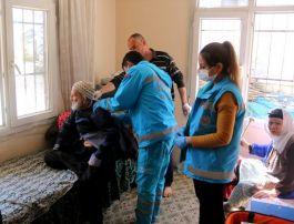 Hatay'da gazi ve yaşlıların evleri dezenfekte edildi