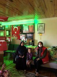 İl Müdürlüğü Şehit ailesini ziyaret etti