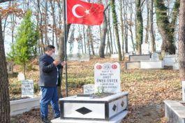 İş adamı 100 yıl önce Şehit olan askerin mezarını yaptırdı