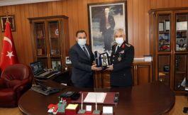 Jandarma Genel Komutanından Belediyeye ziyaret
