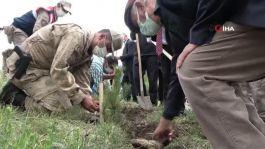 Jandarmanın kuruluş yıl dönümü anısına 182 fidan dikildi