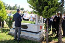Kahta'da bayram öncesi şehit mezarlarına ziyaret