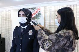 Karabük'te polislere rütbe düzenlenen törenle takıldı