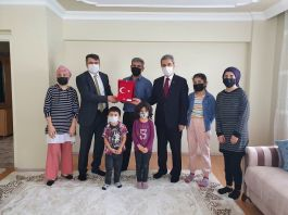 Kaymakam Gazi ve Ailesini Ziyaret Etti