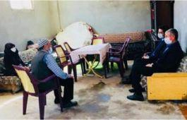 Kaymakam Gülyer'Den Şehit Ailelerine Ziyaret