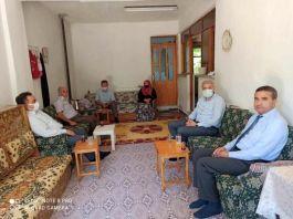 Kaymakam Suriye El-Bab gazisinin ailesini ziyaret etti