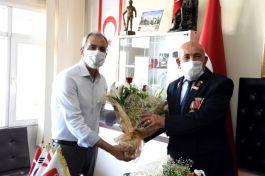 Kaymakam Kıbrıs Barış Harekatı'na katılan gazilere ziyaret