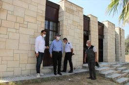 Kaymakam Kıbrıs Şehitliği'nde incelemelerde bulundu