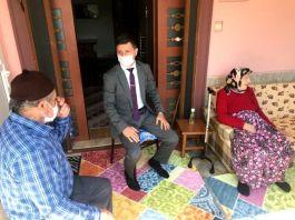 Kaymakam Şehit ailelerini ziyaret etti