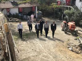 Kaymakam Şehit ailelerini ziyarete devam ediyor