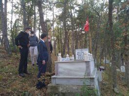 Kaymakam Şehit ailesini ve Şehit mezarını ziyaret etti
