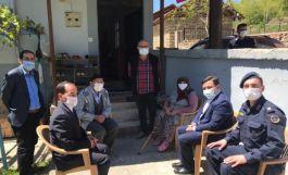 Kaymakamdan Gazilere ve Şehit ailelerine bayram ziyareti