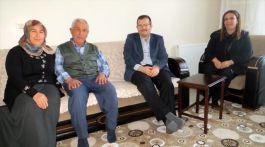 Kaymakam'dan Kıbrıs Gazisine Evinde ziyaret