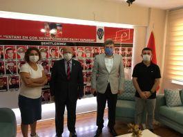 Kaymakam'dan Polis Şehit ve Gazi Derneğine ziyaret