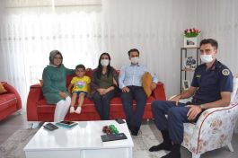 Kaymakam'dan Şehit Ailelerine Bayram ziyareti