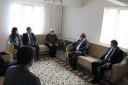 Kaymakamı Şehit ailesi ve Kıbrıs Gazisini ziyaret etti