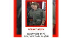 Kırmızı Listedeki sözde komutan kadın Terörist Öldürüldü