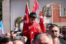 Konya'da İdlib şehitleri ve Bahar Kalkanına destek için yürüyüş gerçekleştirildi.