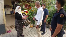 Mezitli Kaymakamı Şehit Ailesini ziyaret etti