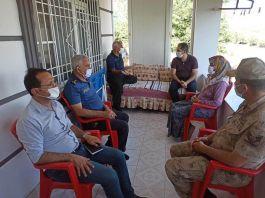 Nurdağı Kaymakamı'nda Şehit ailelerine ziyaret