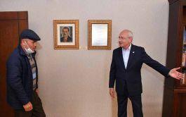 O Şehit Babası Kılıçdaroğlu'nu CHP Genel Merkezi'nde ziyaret etti