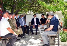 Operasyonda yaralanan Gaziyi Vali ziyaret etti