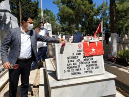 Osmaniye Kadirli ilçe Protokolünden Şehitlik ziyareti