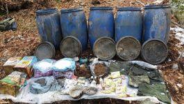 Osmaniye'de teröristlere ait patlayıcı mühimmat malzemeleri bulundu