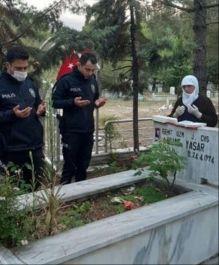 Polis Şehit annesinin isteğini yerine getirdi