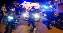 Polisler Kaza yaptı 2 Polis yaralandı