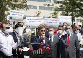Sağlık çalışanları Şehit sayılsın talebi