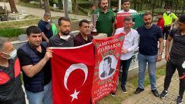 Şampiyonluk kupasını Şehit Gaffar Okkan'ın mezarına getirdiler