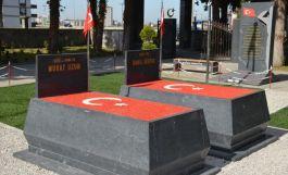Samsun da Şehit mezar taşları Belediye tarafından değiştirildi