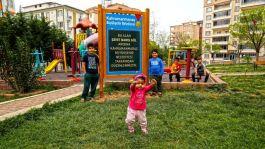 Şehidin çocukları istedi park yenilendi