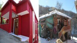 Şehidin harabe evi sonunda yeniden yapıldı