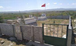 Şehidin mezarında çevre düzenlemesi yapıldı