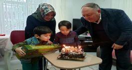 Şehidin oğluna sürpriz doğum günü kutlaması