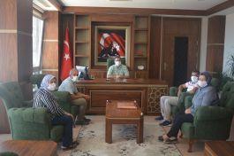 Şehit Aileleri ve Gaziler Kaymakamı Ziyaret etti