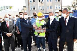 Şehit aileleri ve Gazilere bina için temel atıldı