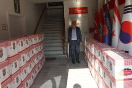 Şehit Aileleri ve Gazilerden İzmir'e 63 Koli yardım