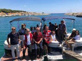 Şehit ailelerine Saros Körfezi'nde moral turu düzenlendi