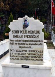 Şehit ailesi o türkünün nakaratını Şehidin mezar taşına yazdırdı