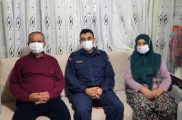 Şehit Ailesine İlçe Komutanından Ziyaret