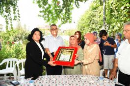 Şehit ailesine şehadet belgesi teslim edildi