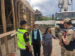 Şehit Ailesinin evini Jandarma Onarım Bakım yaptırıyor