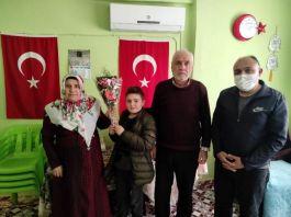 Şehit anneleri ve eşlerinin 8 Mart kadınlar günü ziyaretleri