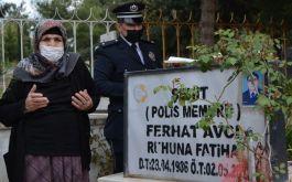 Şehit annesi bir yıldır gidemediği oğlunun mezarına gitti